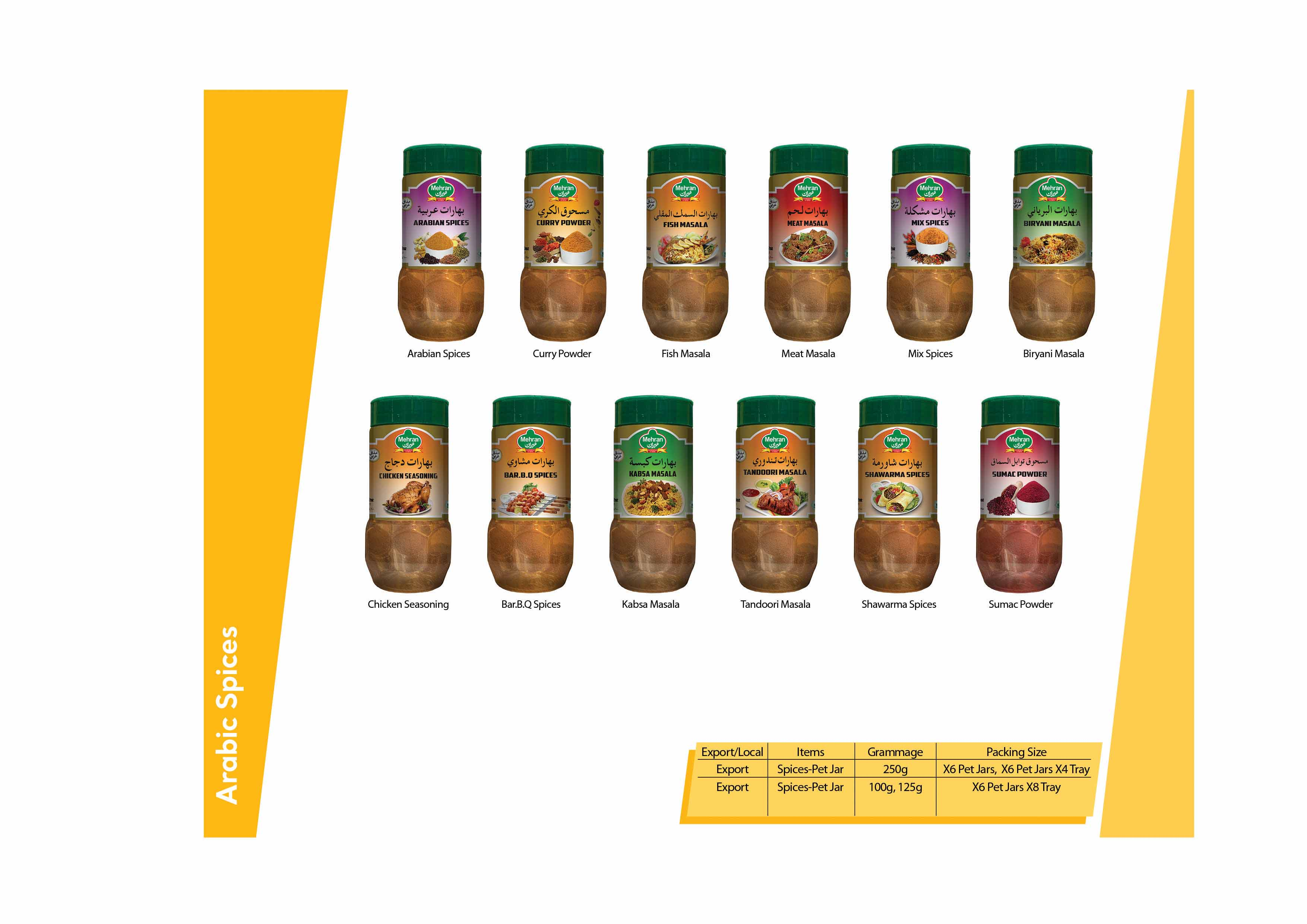 Mehran Straight Spices & Arabic Spices