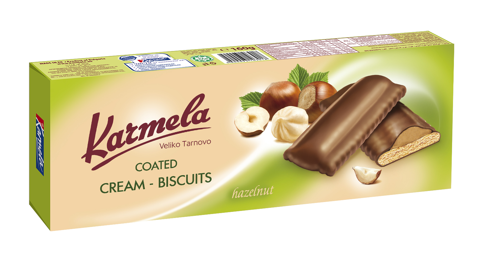 COATED CREAM BISCUITS KARMELA